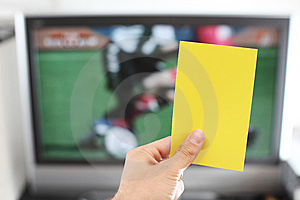 Yellow Card Football Punishment Royalty Free Stock Photography - Image: 14947757
