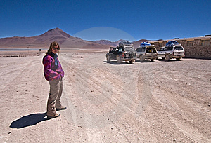 Woman In The Bolivian Desert Royalty Free Stock Images - Image: 14947819