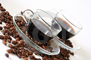 Coffee For Two In Diagonal Stock Image - Image: 14949611