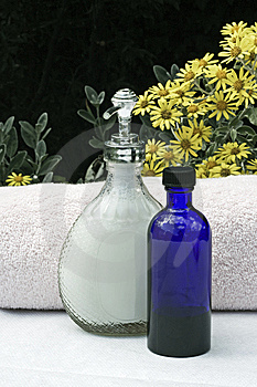 Soap,oil And Towels Stock Photo - Image: 14953900
