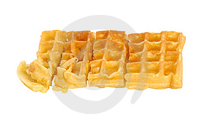 Single Waffle Stock Photography - Image: 14954302