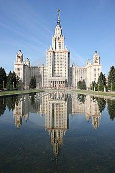 Lomonosov Moscow State University, Main Building. Stock Images - Image: 14957774