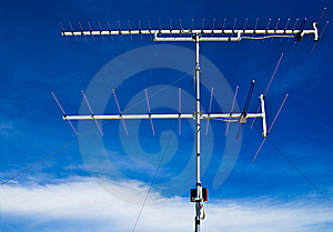 Old Style Television Antenna Royalty Free Stock Image - Image: 14957946