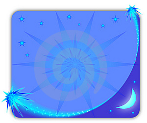 Blue Starry Picture Frame Stock Image - Image: 14958891