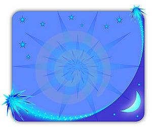 Frame De Retrato Estrelado Azul Imagem de Stock - Imagem: 14958891