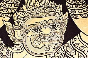 Thai Mural Royalty Free Stock Image - Image: 14960176