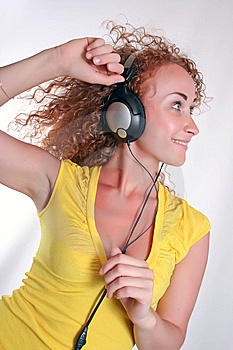 Listening To Music Royalty Free Stock Image - Image: 14960396
