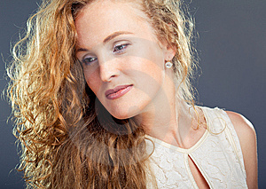 Beautiful Lady On Blue Stock Photo - Image: 14960910