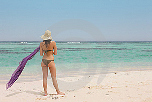 Woman With A Sarong Royalty Free Stock Photo - Image: 14961065