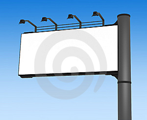 Empty Advertisement Hoarding And Blue Sky Royalty Free Stock Photo - Image: 14961125