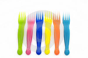 Plastic Forks Royalty Free Stock Photos - Image: 14962078
