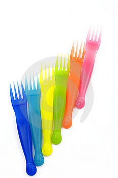 Plastic Forks Stock Photo - Image: 14962090