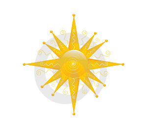Vector Sun Stock Image - Image: 14963811
