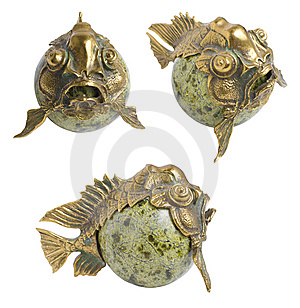 Asian Fen-shui Fish | Isolated Royalty Free Stock Image - Image: 14965706