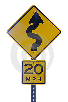 Curvy Road Sign Royalty Free Stock Photos - Image: 14968218