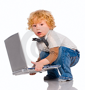 The Little Boy And Notebook Royalty Free Stock Images - Image: 14968219