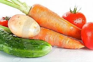 Close-up Shot Of Fresh Wet Vegetables Stock Image - Image: 14968341