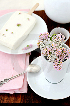 Summer Bouquet And Ice Cream Stock Image - Image: 14968951