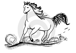Horse Galloping With Flying Mane Stock Image - Image: 14969741