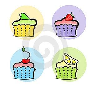 Little Fruit Cakes Stock Image - Image: 14970991