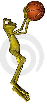 Basketball Frog Stock Photography - Image: 14971752