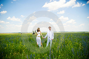 Just Married Couple On The Nature Stock Photo - Image: 14973080