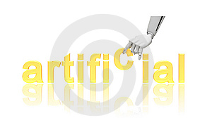 Robotic Arm And Word Artificial Stock Photo - Image: 14973230