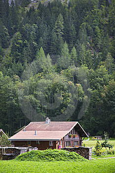 Farmhouse Chalet In The Swiss Alps Stock Photography - Image: 14974062