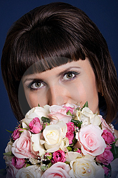 Bride With Bouquet Royalty Free Stock Photo - Image: 14975045