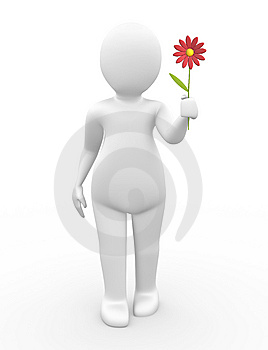 Human Giving A Flower Royalty Free Stock Images - Image: 14976029