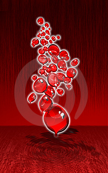 Red Melting Bubbles Design Royalty Free Stock Images - Image: 14976889
