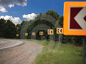 Turn On A Road Stock Photos - Image: 14976933