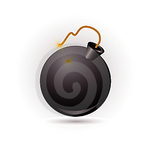 Bomb Icon Royalty Free Stock Photos - Image: 14977248