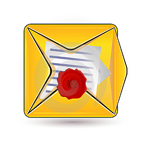 Document And Wax Icon Royalty Free Stock Photo - Image: 14977335