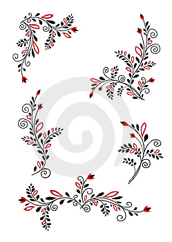 Floral Elements Royalty Free Stock Images - Image: 14979429
