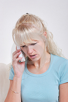 Blond Woman Phoning Royalty Free Stock Photo - Image: 14980335