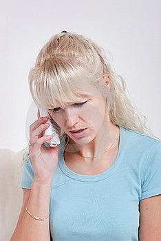 Blond Woman Phoning Royalty Free Stock Photo - Image: 14980335