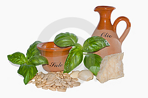 Ingredients Of Pesto Sauce Royalty Free Stock Photography - Image: 14981207