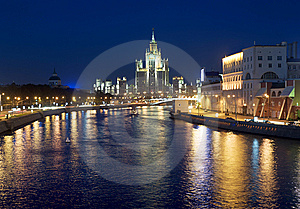 Moscow At Night Stock Photography - Image: 14981432