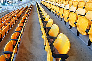 Row Yellow Seat Royalty Free Stock Images - Image: 14982979