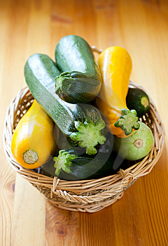Yellow And Green Zucchini Royalty Free Stock Image - Image: 14983486
