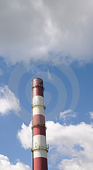 Chimney-stalk On A Blue Sky Stock Photos - Image: 14984353
