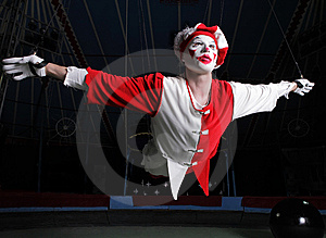 Circus Air Acrobat Royalty Free Stock Photos - Image: 14986508