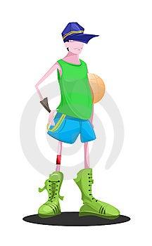 Basketball Kid Royalty Free Stock Images - Image: 14987059