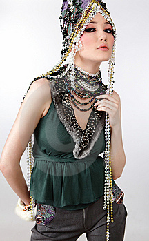 Attractive Model In Exclusive Design Clothes Royalty Free Stock Images - Image: 14988939
