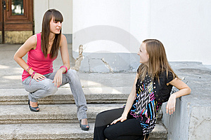 Two Female Friends Royalty Free Stock Photos - Image: 14989858