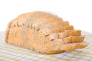 Sliced Wholemeal Brown Bread Placed On Linen Cloth Royalty Free Stock Photos - Image: 14990638