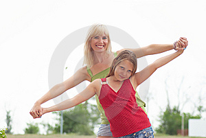 Mum With A Daughter Stock Images - Image: 14990724