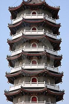 PART OF CHINESE PAGODA Stock Image - Image: 14991801