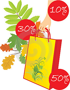 Package In A Woman Hand On The Leafy Background Stock Photos - Image: 14993803